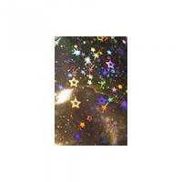 Фольга голографик серебро звезды